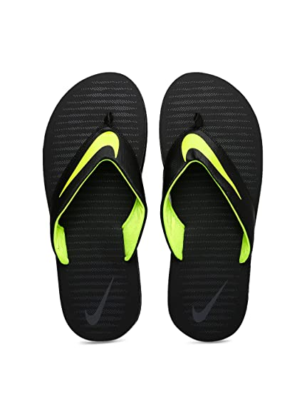 b10141e1545d Nike Men s Chroma Thong 5 Black Volt - Dark Grey Flip Flops (833808-013)   Buy Online at Low Prices in India - Amazon.in