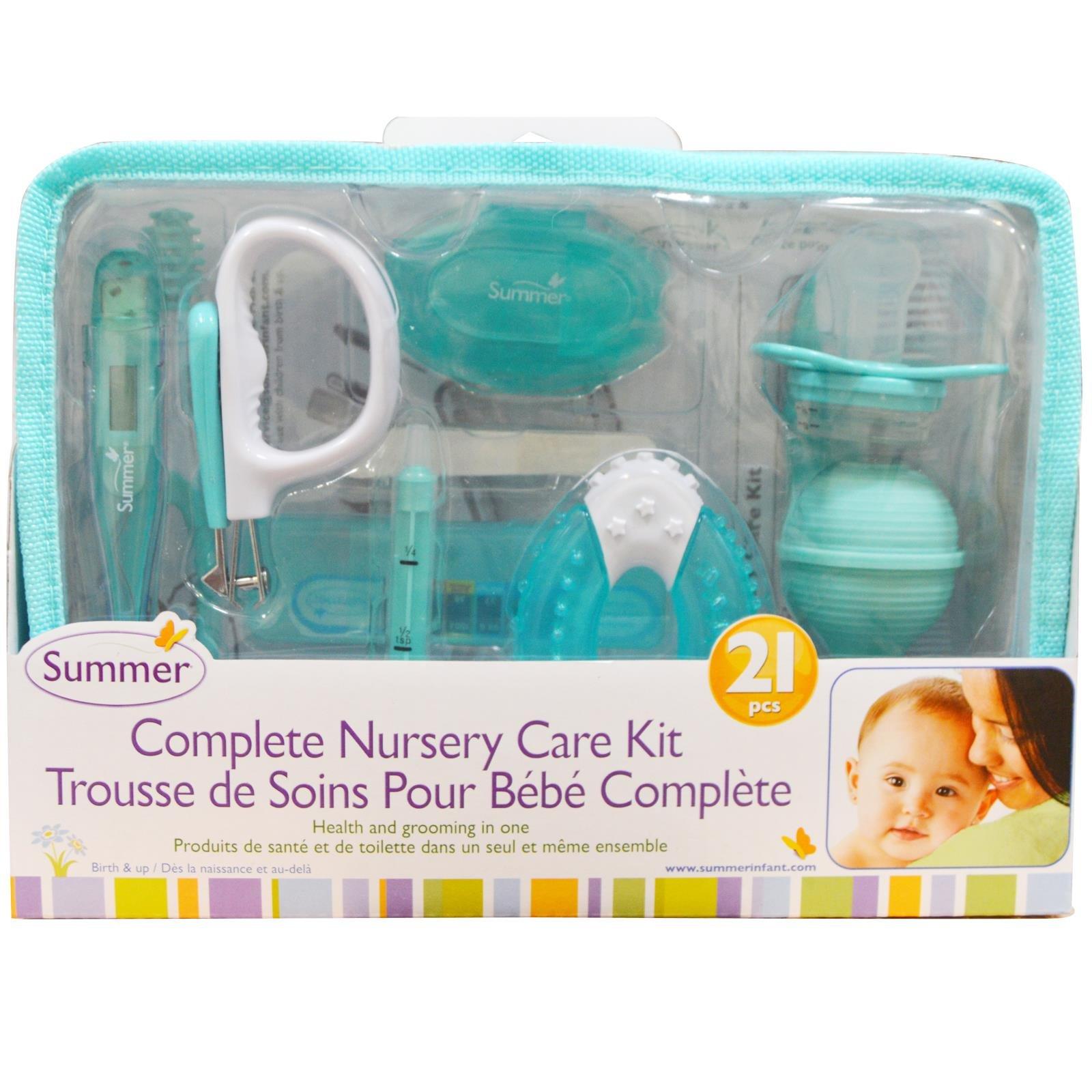 Summer Infant Complete Nursery Care Kit, Teal/White by Summer Infant