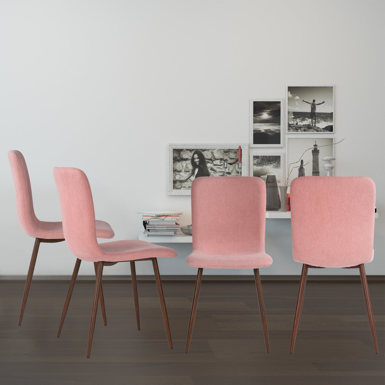 coavas Esszimmerstühle Stoff Kissen Küchentisch Stühle mit stabilen ...