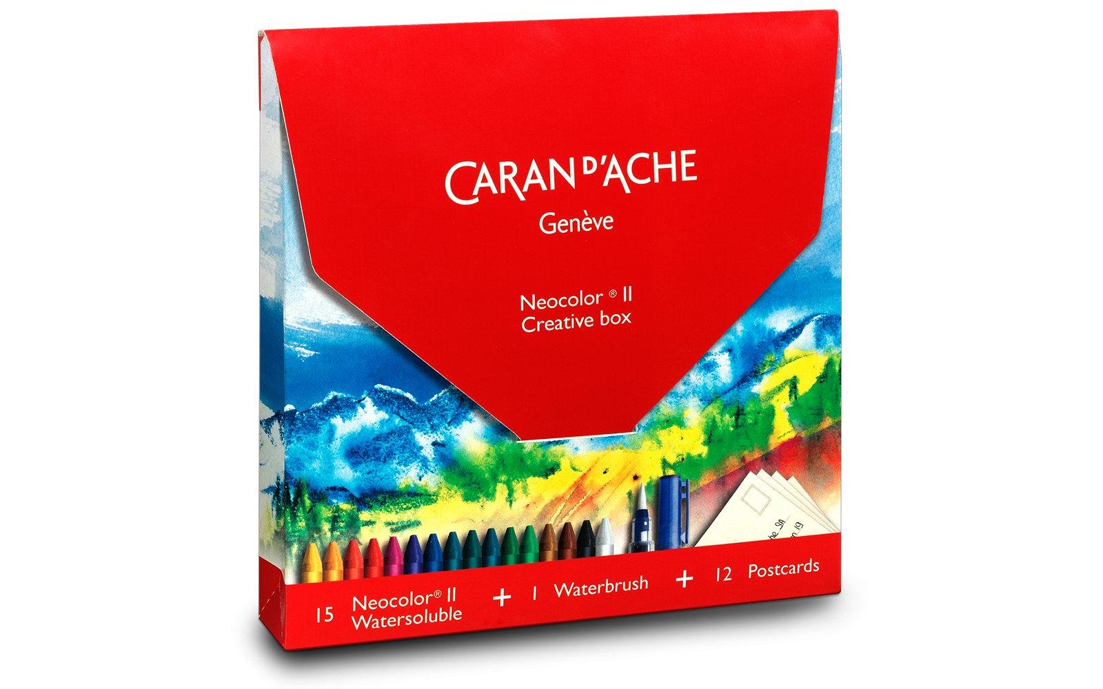 CARAN DACHE Neocolor II Pasteles con postales (7500.515)