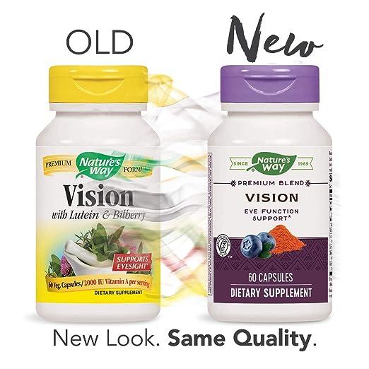 Nature's Way Vision, 60 Capsules (Packaging May Vary)