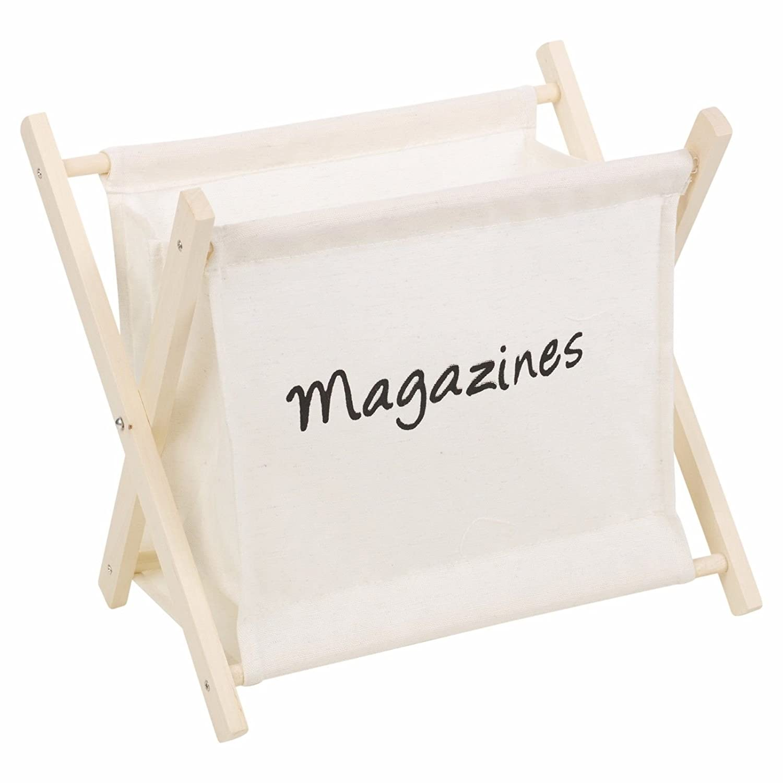 Grey Wooden Magazine Newspaper Rack Holder EASYGIFT UKASNHKTN9075