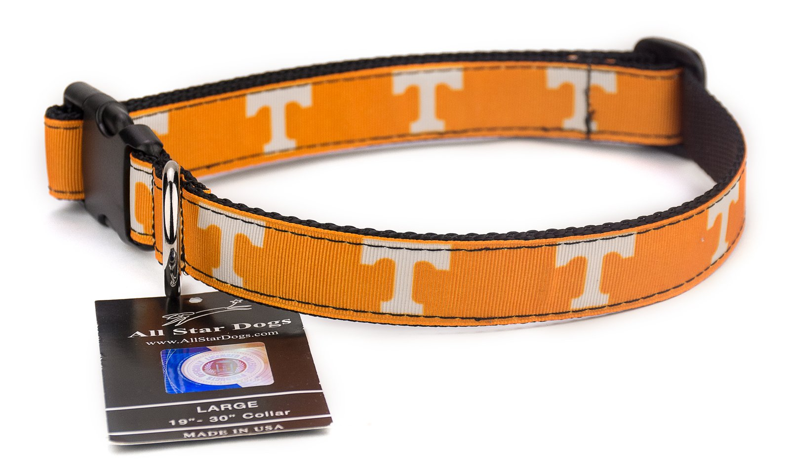 All Star Dogs Tennessee Volunteers Ribbon Dog Collar - Extra Small