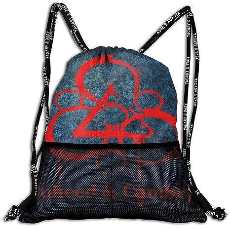 GailFranklinandCat Coheed Cambria Drawstring Backpack Bag Mans Women s  Sport Sack 2fa28d20f