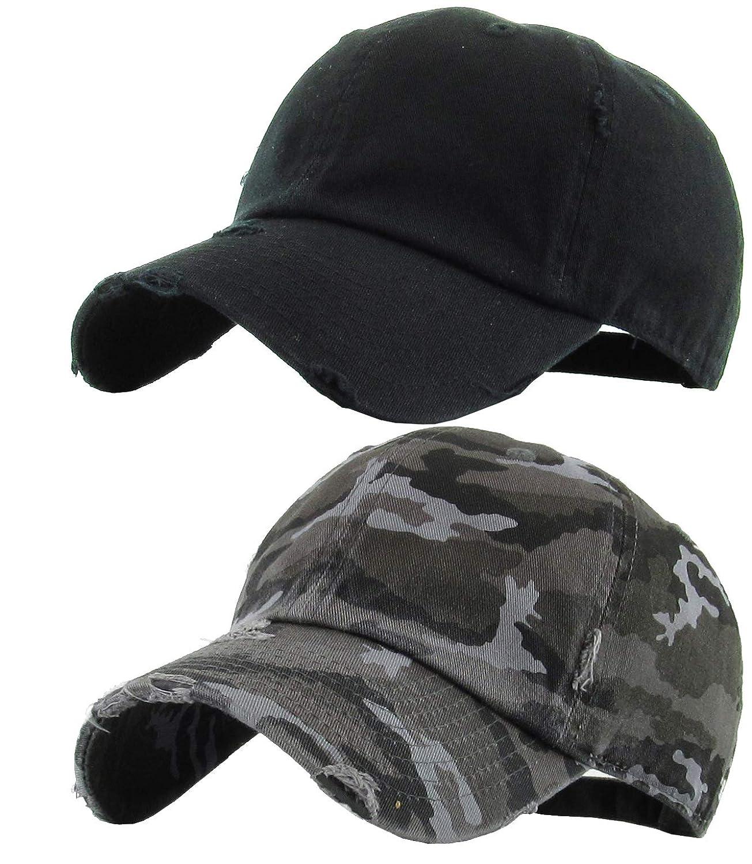 cb74db85db64b H-218-2-068406 2-Pack Baseball Cap Bundle  Black and City Camo at Amazon  Men s Clothing store