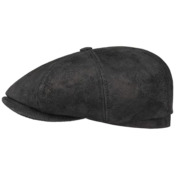 490641e620339 Stetson Hatteras Pigskin Leather Cap Men