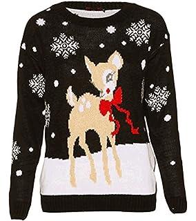 e8beaf4fab102 B78 Celebmodelook ® Childrens Kids Boys Girls Knitted Retro Novelty  Christmas Xmas Jumper…