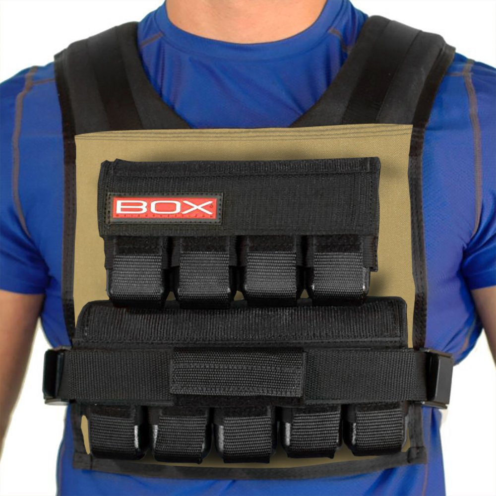 Box 45 Lb Weightvest (Coyote Tan)