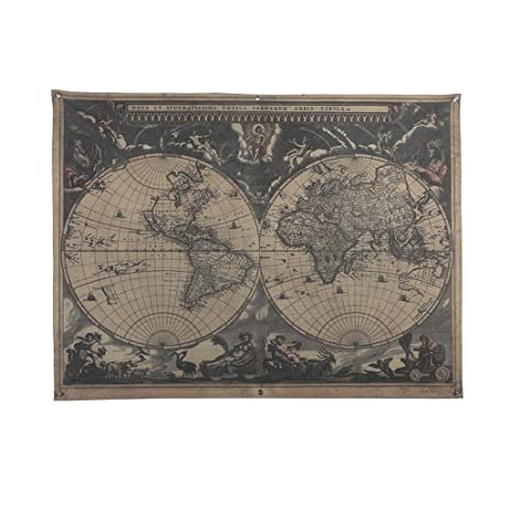 Amazon french retro vintage large old world map waterproof french retro vintage large old world map waterproof linen poster print art wall hanging decor 48x36 gumiabroncs Images