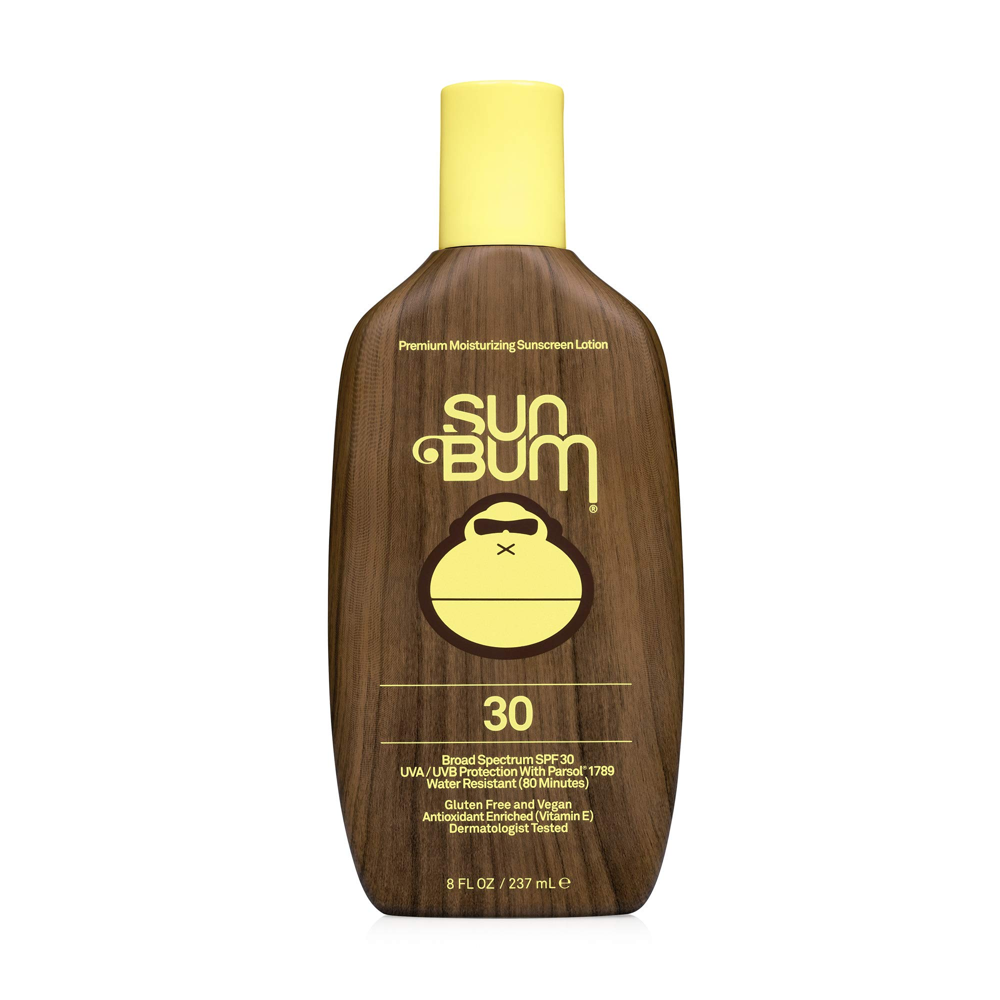 Sun Bum Original SPF 30 Sunscreen Lotion | Vegan and Reef Friendly (Octinoxate & Oxybenzone Free) Broad Spectrum Moisturizing UVA/UVB Sunscreen with Vitamin E | 8 oz