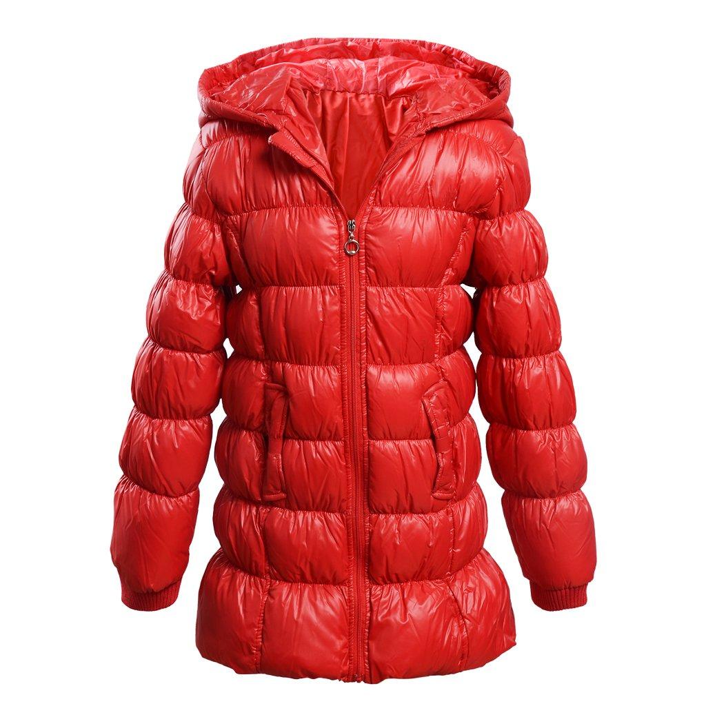 M2C Girls Hooded Lightweight Long Puffer Down Windproof Jacket