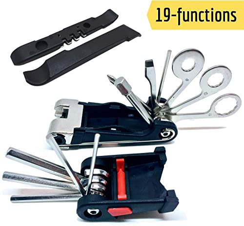 SIGTUNA Bike Tool Kit - Sturdy 19-in-1 Bike Multitool Repair Kit