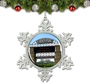 Umsufa Eau Claire Carson Park Wisconsin USA Christmas Ornament Tree Decoration Crystal Metal Souvenir Gift