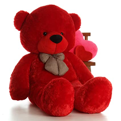 7d01476503f Amazon.com  Giant Teddy Brand 6 Foot Life Size Ruby Red Big Plush ...