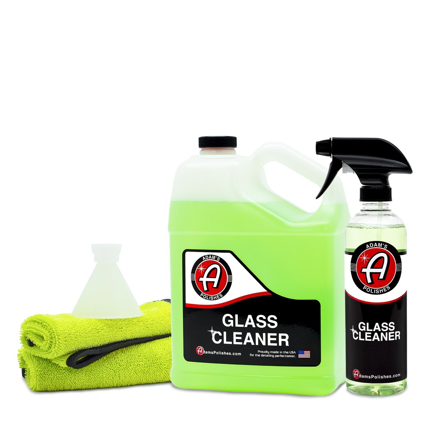 Adam's New Glass Cleaner - Streak Free Glass Cleaning - Optical Clarifiers Keep Glass Clear for Improved Visibility - Safe for Tinted Windows (Collection)