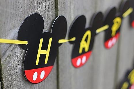 TOYXE 40053 Mickey Mouse Theme Happy Birthday Banner