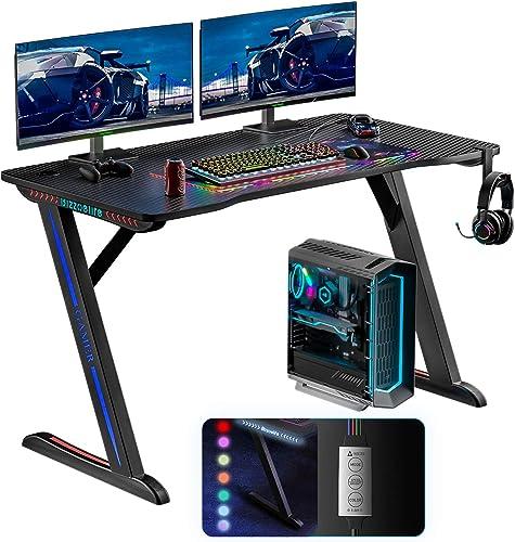 Best modern office desk: Bizzoelife Ergonomic Gaming Desk