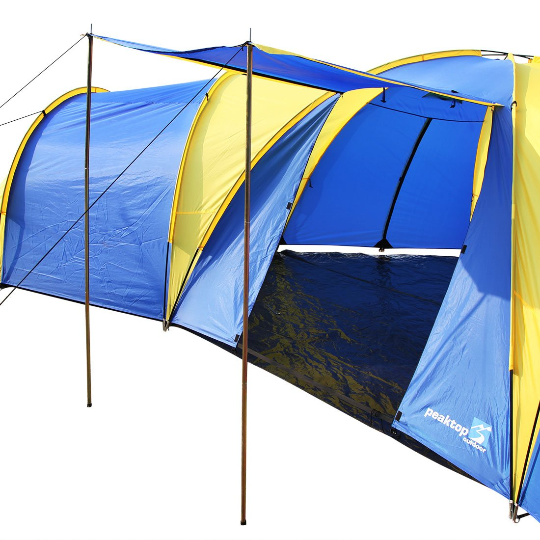 Peaktop 3 1 Rooms 8 Person Large Family Camping Tent Dome Hiking 3000mm Waterproof UV Coated Amazoncouk Sports Outdoors