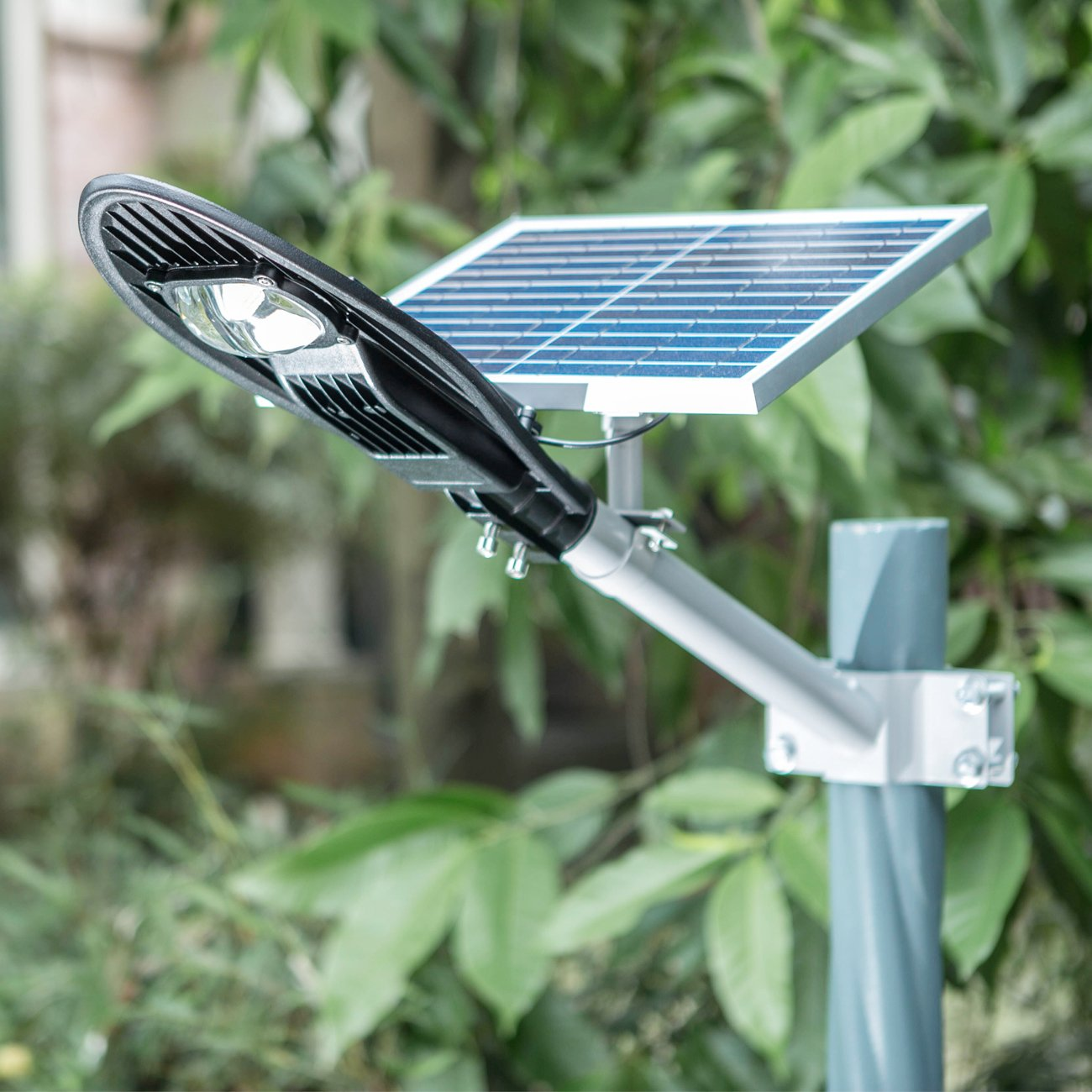 SHANGBOYI Solar Street Light 12W 900 Lumens 6000K Optically Control Post Light IP65 LED Solar Path Light with 2 Installation Modes and Split Mounting for Home, Street, Garden, Outdoor, (Black) by SHANGBOYI