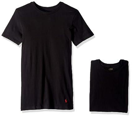 2df4c16e343e Polo Ralph Lauren Slim Fit Cotton T-Shirt 3-Pack at Amazon Men s Clothing  store