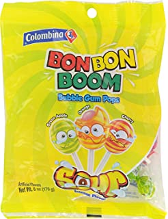 Amazon.com : Colombina Bon Bon Bum Bubble Gum Pops Passion ...