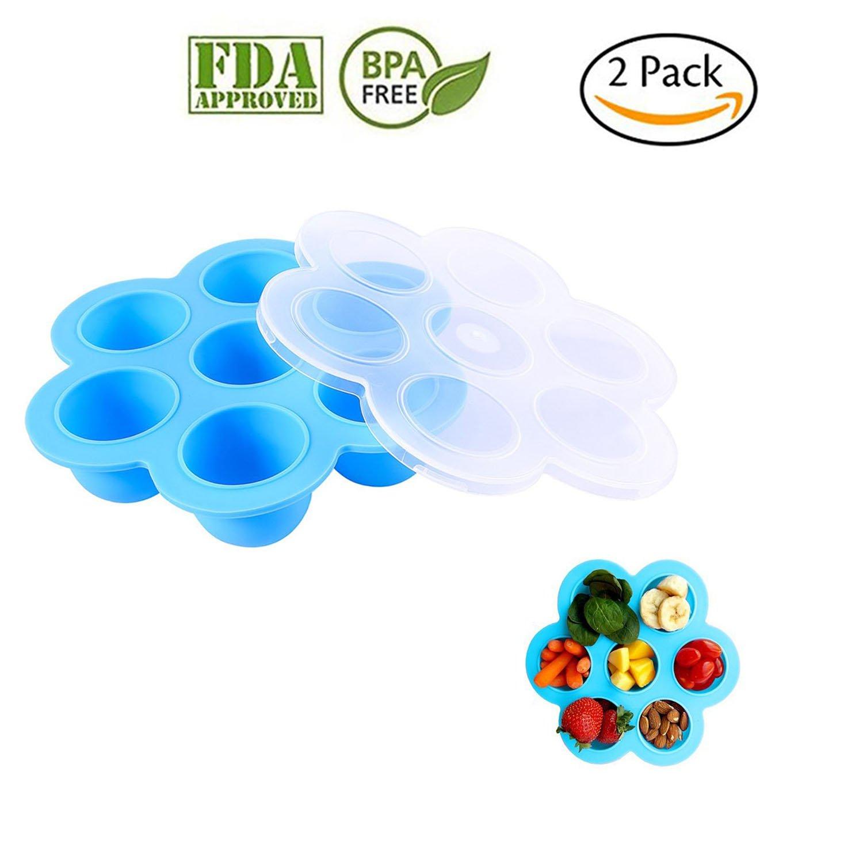 Se adapta a ollas instantáneas de 5,6,8 qt a presión, congelador de alimentos para bebé, contenedor de almacenamiento reutilizable con tapas aprobado ...