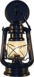 Rustic Lantern Wall Mounted Light - Small Black by Muskoka Lifestyle Products