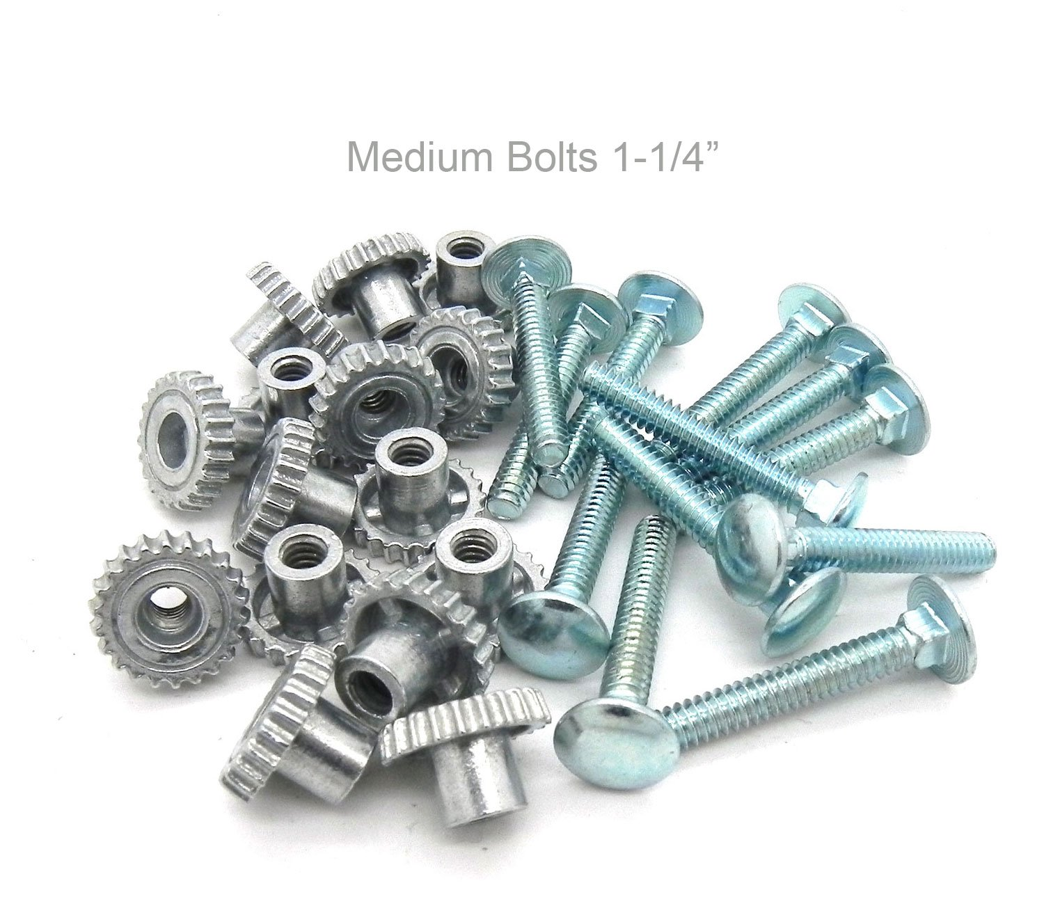 Pet Carrier Metal Fasteners Nuts Bolts (1-1 4 Medium Bolts, 16 Pack)