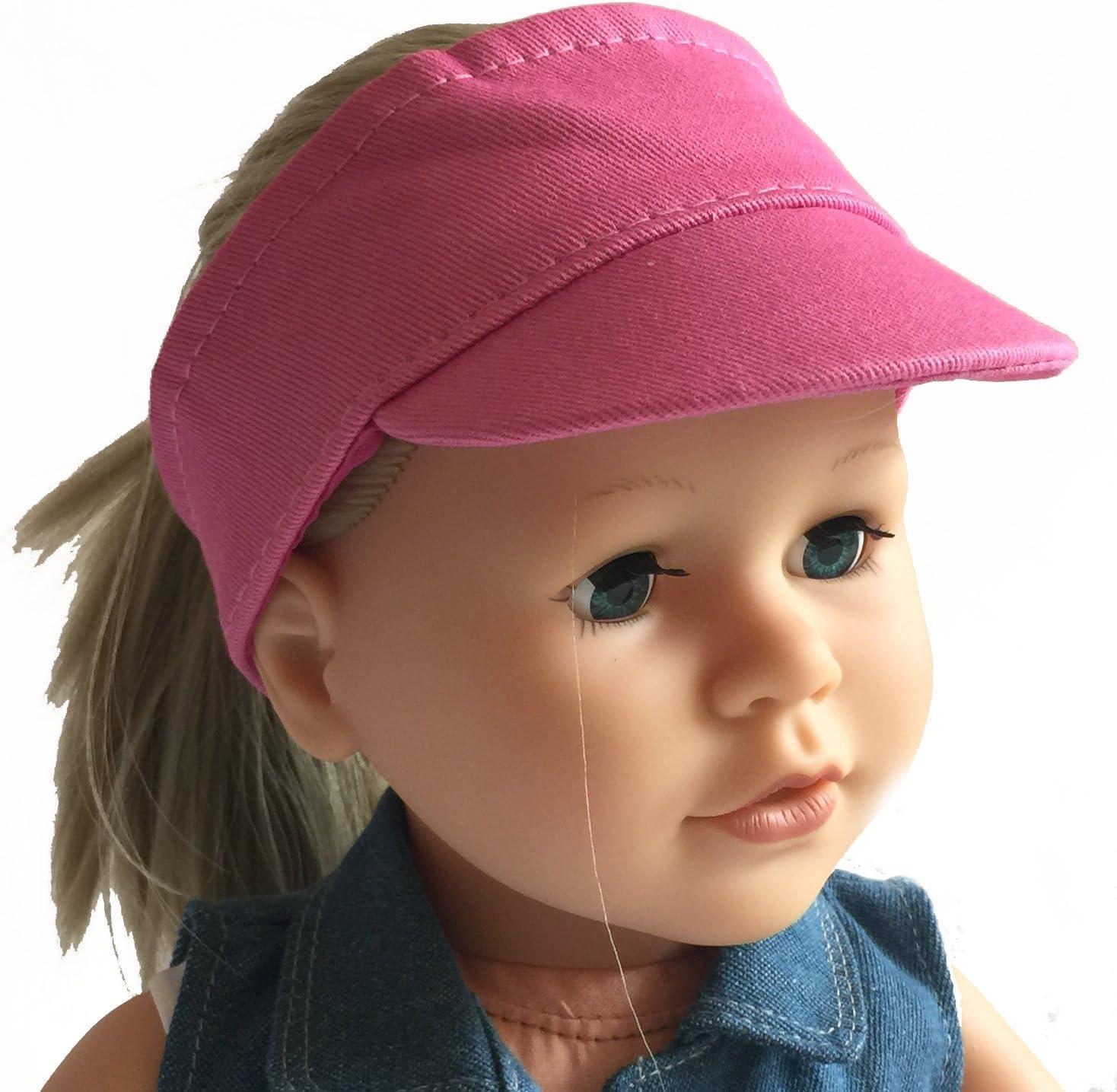 White Sun Visor Cap for 18 inch Dolls Sun Visor Hat Fits American Girl Dolls