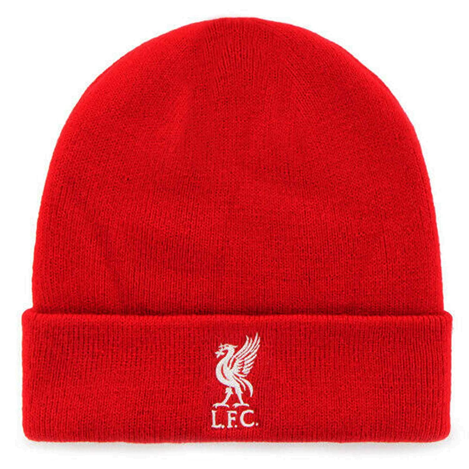 100/% Acrylic Super Reds Official Liverpool FC Winter Warmers Hat /& Bar Scarf Set