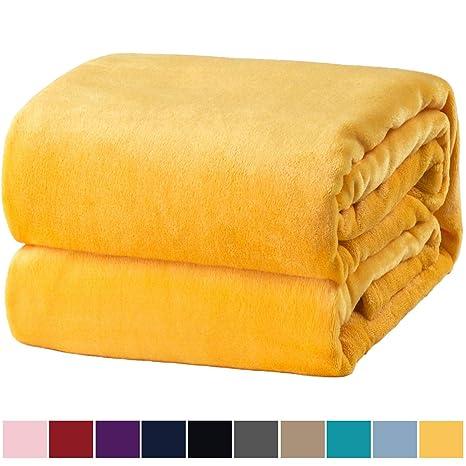Bedsure Mantas para Sofas de Franela 130x150cm - Manta para ...