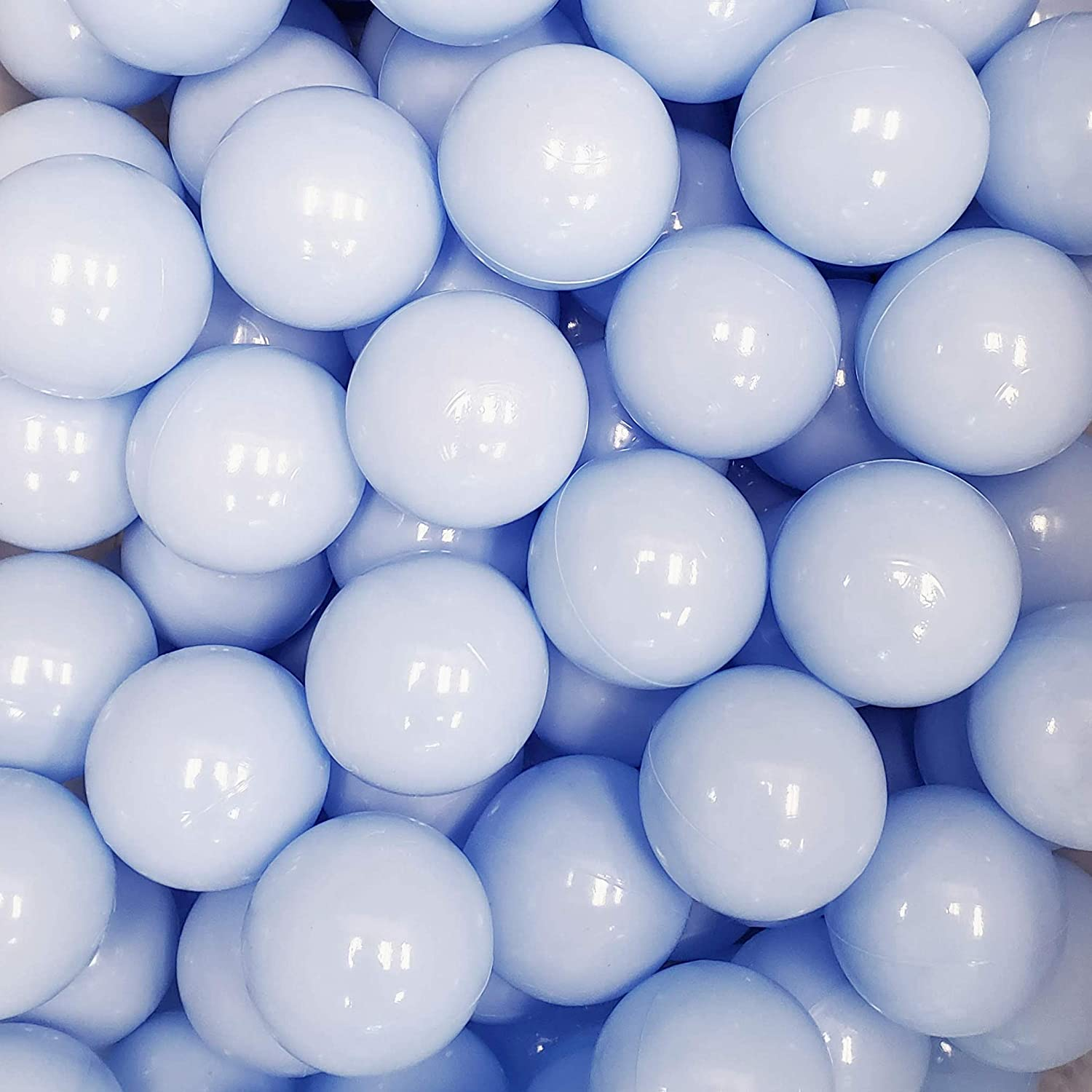Blue, 200 200 Piece Single Color Set Perfect for Ball Pits Bliss Brands Baby Toys Soft Plastic Play Balls Baby Playpens Kids Parties
