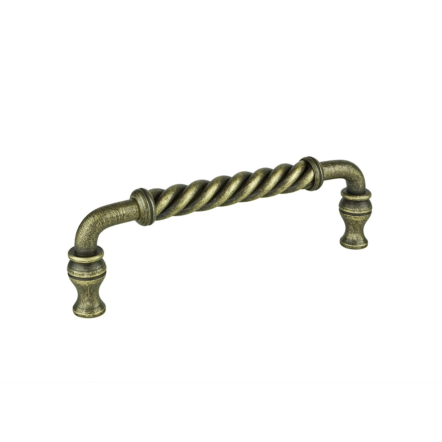 Burnished Brass  Finish BP512186BB Traditional Metal Pull 5121-6 in Richelieu Hardware