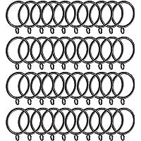 Wowot Vorhangringe aus Metall, 40 Stück, 38mm Innendurchmesser, Ringe für Gardinenstangen zum Aufhängen von Vorhängen
