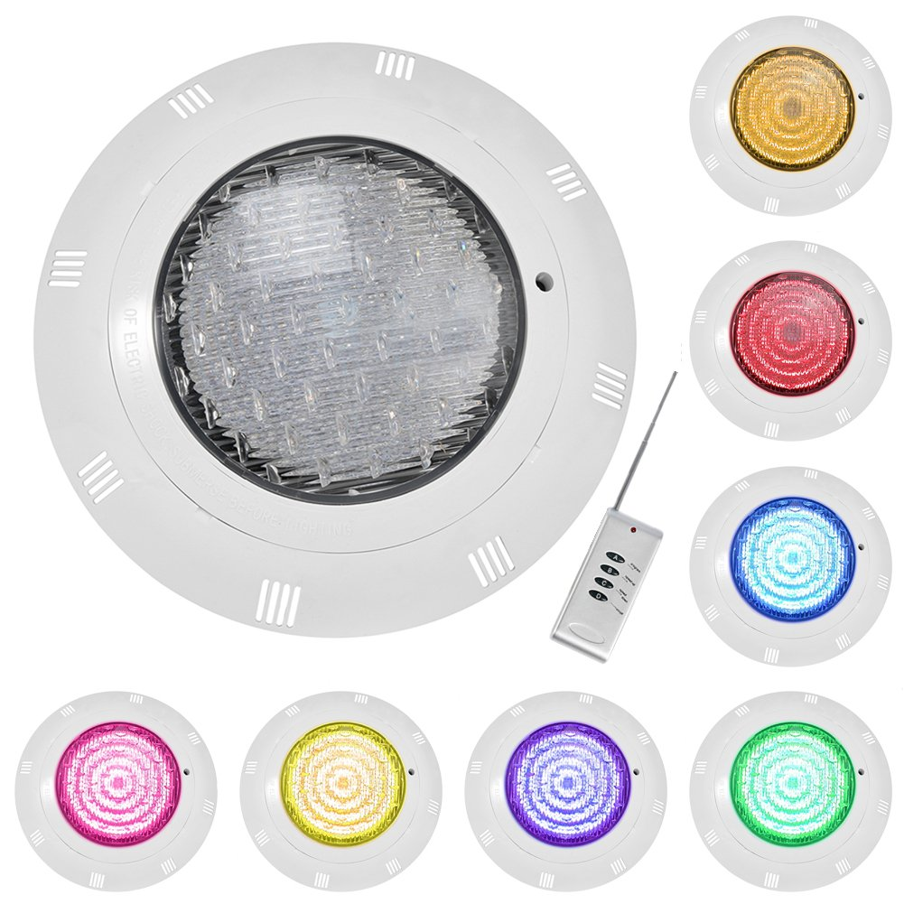 Dreamiracle Pool Light, 558 LED RGB Color Changing Swimming Pool Lights Bulb Underwater Submersible Waterproof Outdoor Fountain Pond with Remote Control