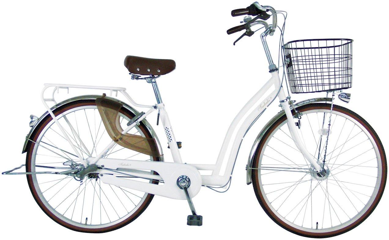 C.Dream(シードリーム) ツバキ オートライト TB61-H 26インチ 自転車 シティサイクル ホワイト 100%組立済み発送   B072C6GYPQ