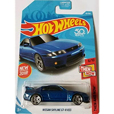 Hot Wheels 2020 50th Anniversary Then And Now Nissan Skyline GT-R R33 46/365, Blue: Toys & Games