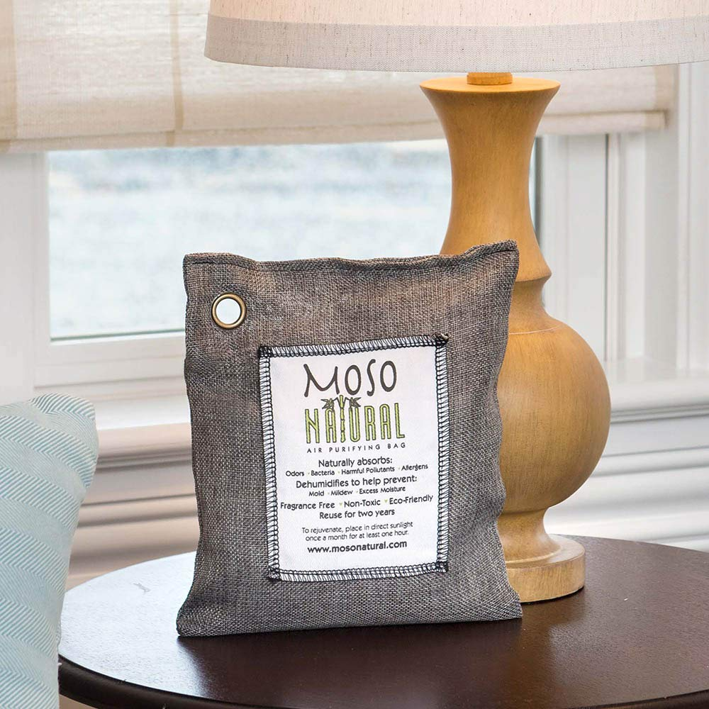 Color carb/ón Sin Fragancia Libre de qu/ímicos Moso Natural Air Captura y Elimina olores 500 Gramos Eliminador de Olor Natural Absorbente de Olor Bolsa de purificaci/ón