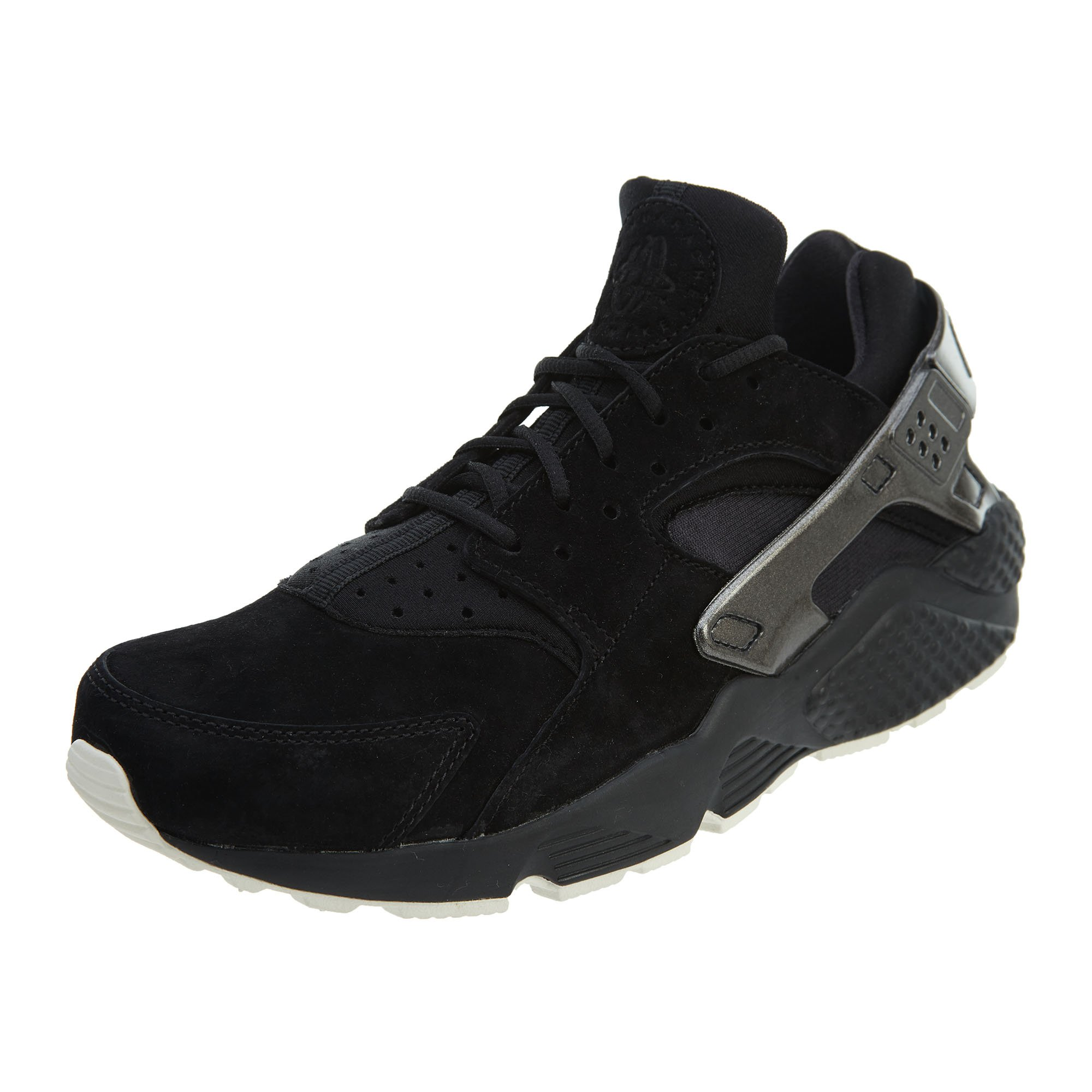 low cost a12b6 98fc6 Galleon - NIKE 704830-014  Men s Air Huarache Run Black Sail Sneaker (9 D(M)  US)