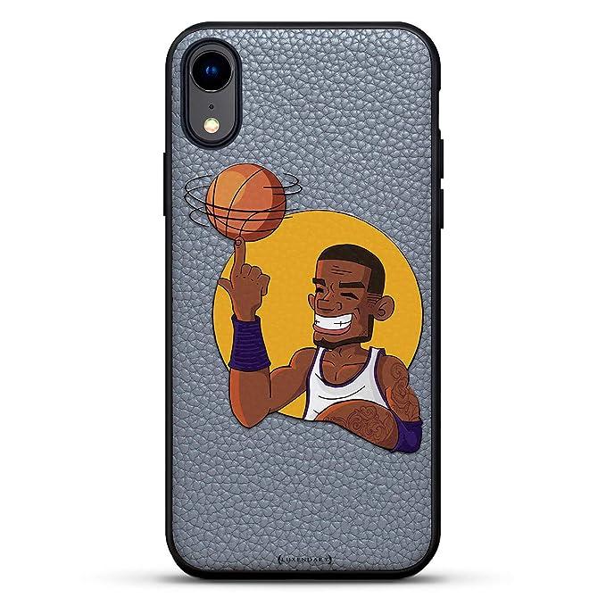 Sports: Caricatura de Jugador de Baloncesto Spinning Ball   Funda ...