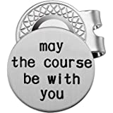Golf Ball Marker with Magnetic Hat Clip Personalized Golf Gift for Men - May The Course Be with You - Golf Accessories…