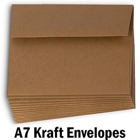 Amazon.com: Hamilco 5 x 7 sobres de papel de estraza color ...