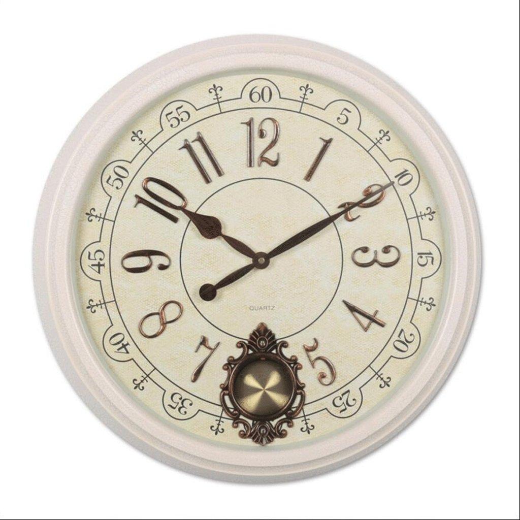 リビングルーム円形壁時計クォーツ時計レストラン時計 GAODUZI (色 : A) B07FNFP4HF A A