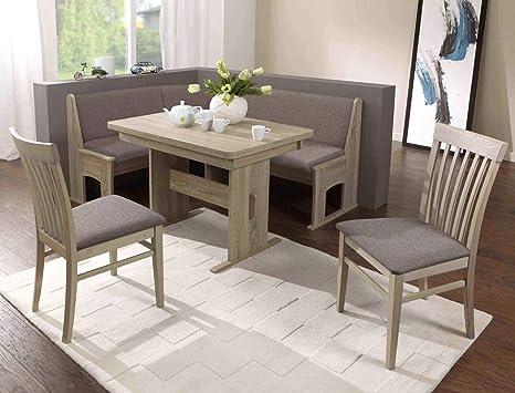 Eck bank gruppo sandro 2 rovere sonoma grigio 2 x sedia tavolo panca