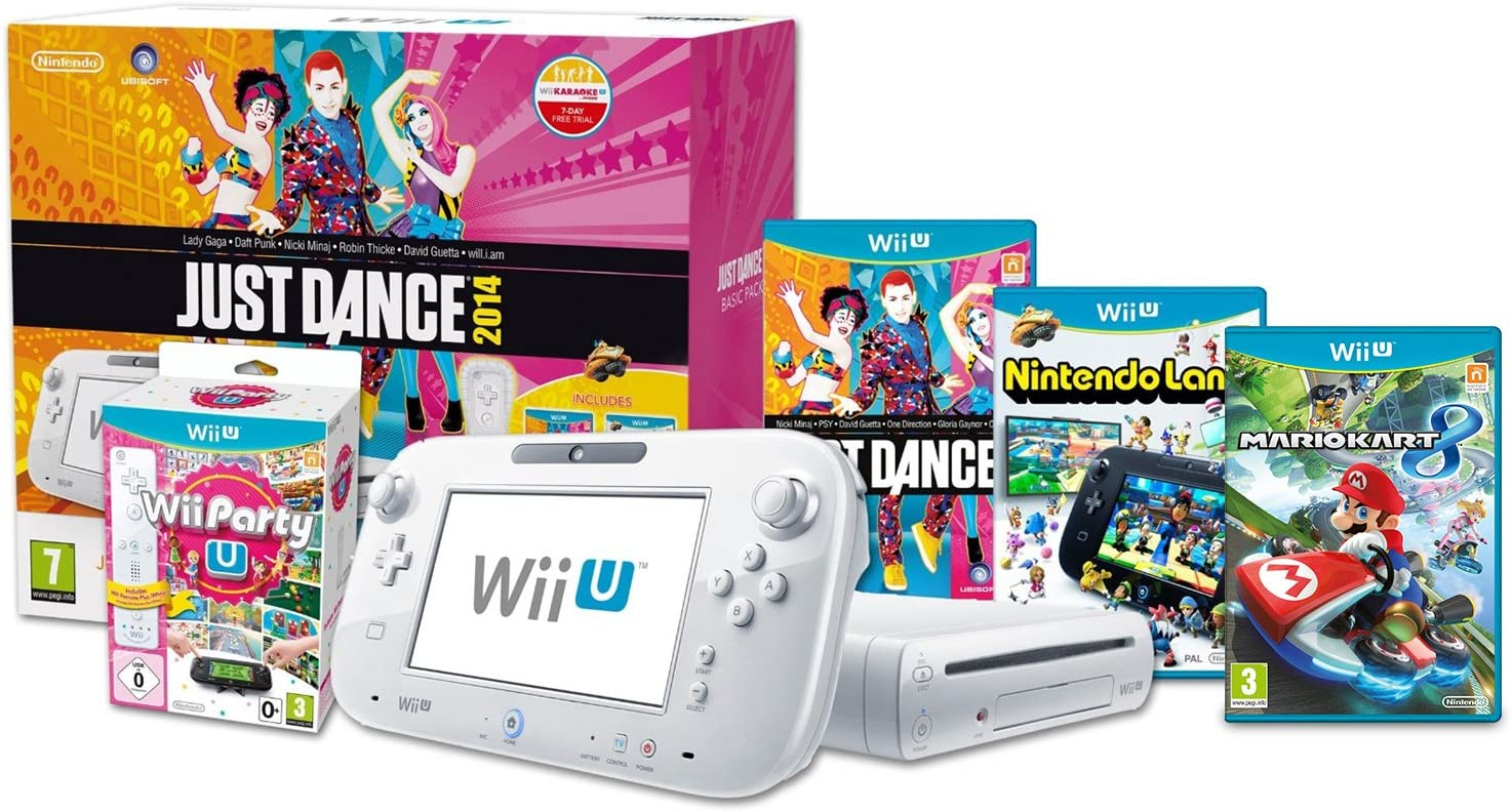 Wii U Basic Just Dance, Wii Party & Mario Kart 8 Pack [Importación Inglesa]: Amazon.es: Videojuegos