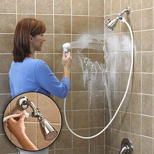 Rinse Ace Snap 'N Spray 6-Foot Quick-Connect and Detachable Hose with  On/Off Sprayer, White - Plumbing Hoses - Amazon.com
