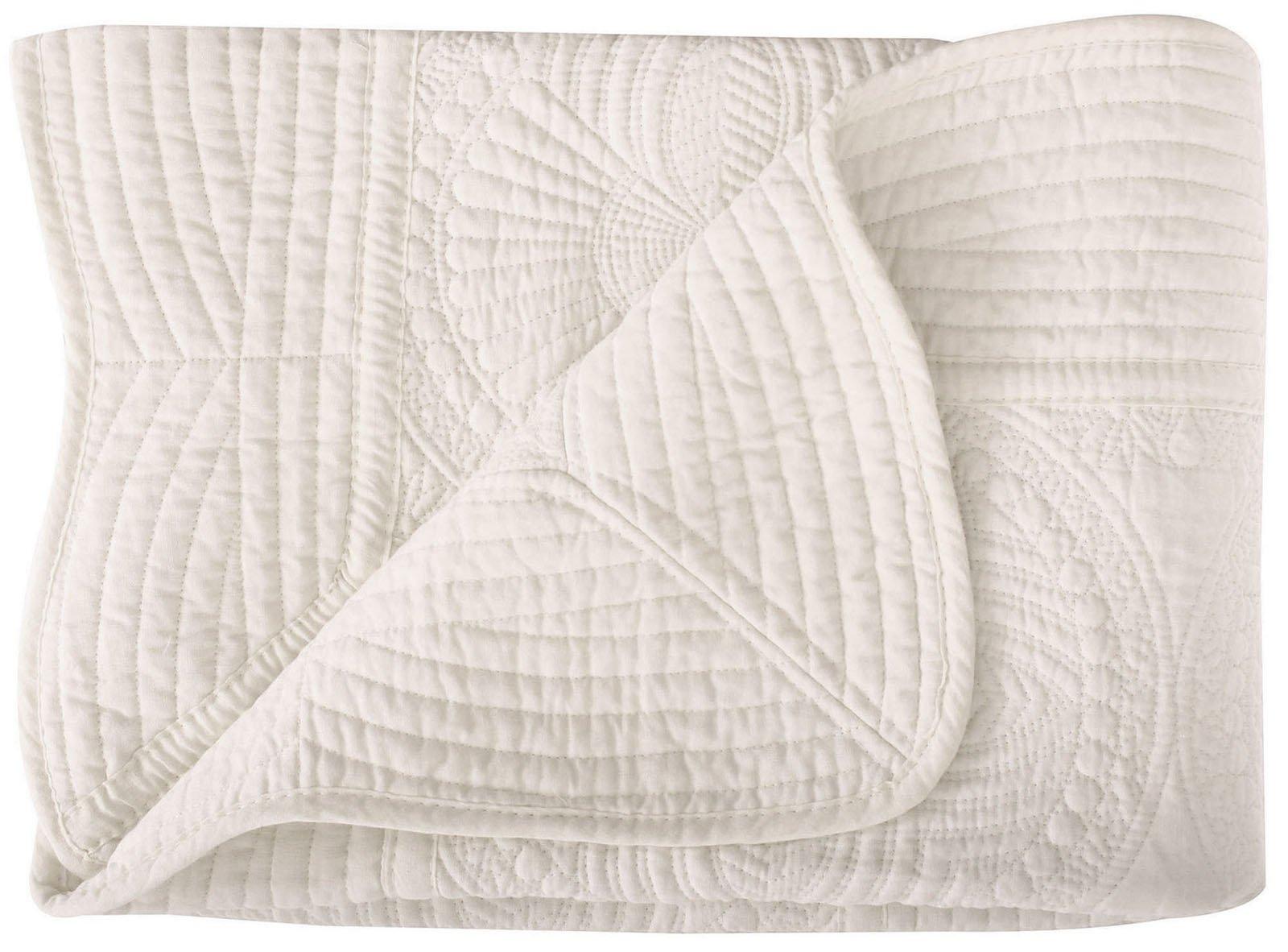 Toddler Blankets All Weather Lightweight Warm Baby Quilt Cream