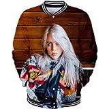 bettydom Women's Novelty Billie Eilish Jacket Pop Singer Billie Eilish 3D Sweatshirt