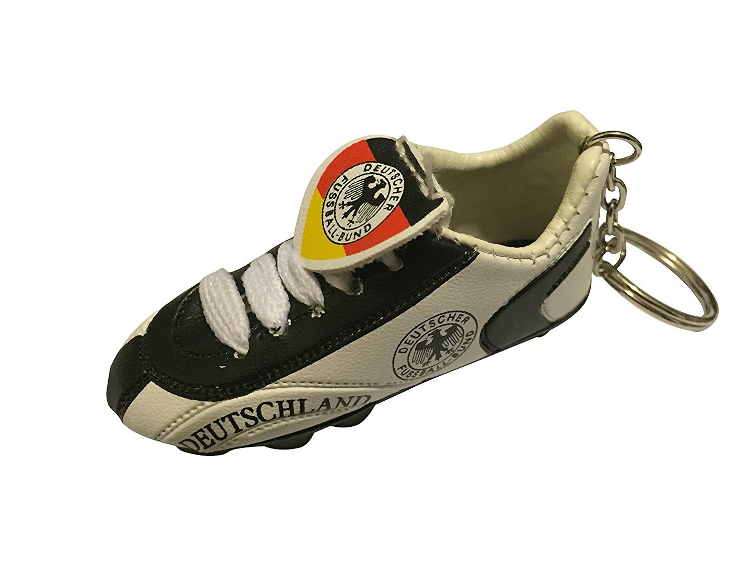 Football Soccer Futbol Mini Shoeキーチェーンキーリング – ヨーロッパ B01N3PDDTY 1-Pack Country: Germany Country: Germany 1-Pack
