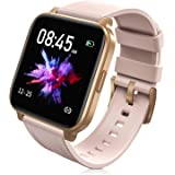RTAKO Smart Watch Compatible with iPhone Android Phones , Fitness Tracker Watch with Heart Rate Monitor Blood Oxygen Meter, I